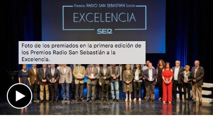 Gala Excelencia – Cadena SER – Radio San Sebastián